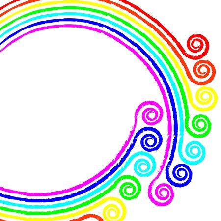 background: a rainbow photo