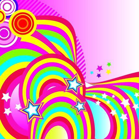 brightest: Festosa astratto sfondo della band pi� brillanti, archi, cerchi e stelle su fondo bianco