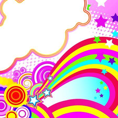 brightest: Festosa astratto sfondo della band pi� brillanti, archi, cerchi e stelle su fondo bianco  Archivio Fotografico