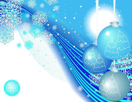 Balls and snowflakes Stock Photo - 3658306