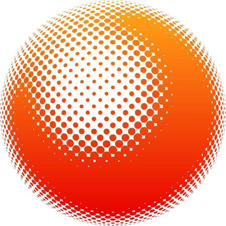 Element for your design. Orange stains form a ball on a white background photo