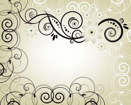 Floral frame Stock Photo - 4217392