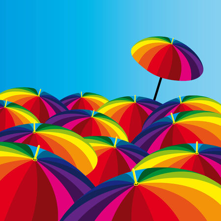 Umbrellas Vector
