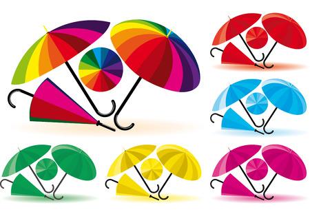 Umbrellas Stock Vector - 4217408