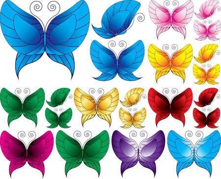 motley: Set di Motley farfalle