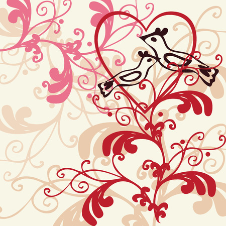 emo: Vector background - valentine theme
