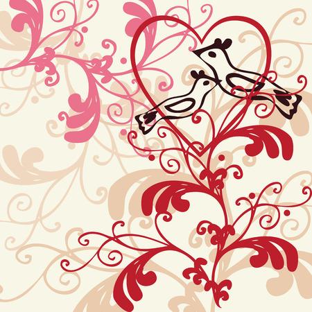 Vector background - valentine theme