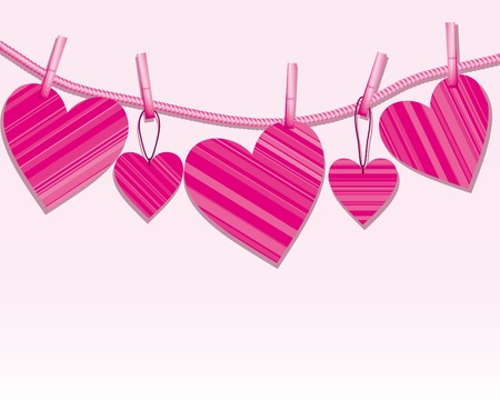 Hearts on a string Stock Vector - 4217412
