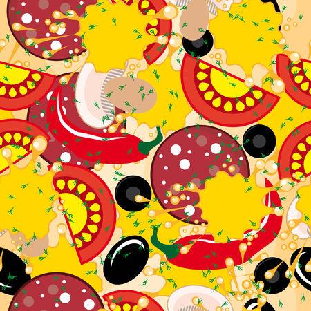 italienisches essen: Nahtlose Hintergrund