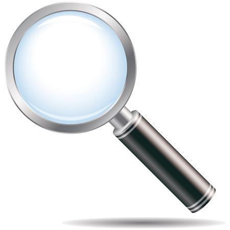 scrutiny: lupa Vectores