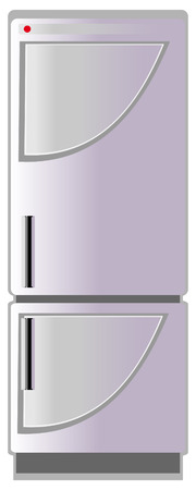Refrigerator, vector illustration Vector