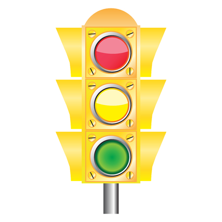 Vector traffic light Stock Vector - 5248684