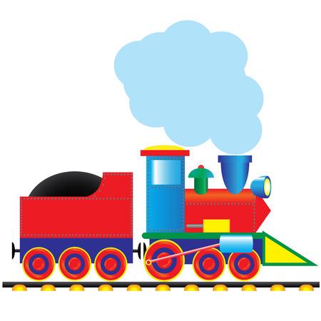eisenbahn: Dampflokomotive Illustration