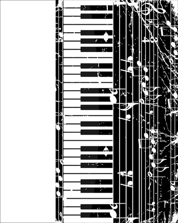 Piano keyboard 矢量图像