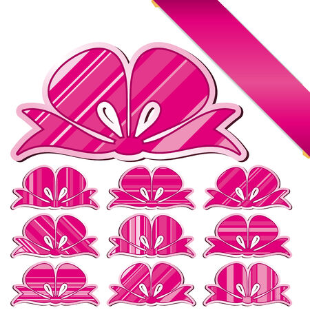 Set of bows Stock Vector - 5325450