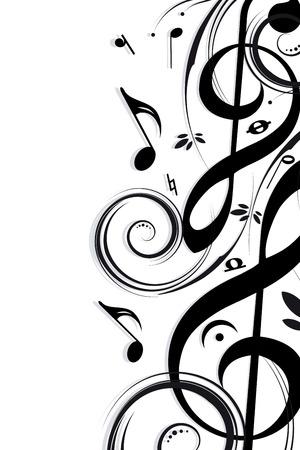 simbolos musicales: Fondo musical
