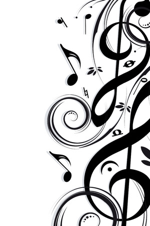 Musical background Stock Vector - 5325452