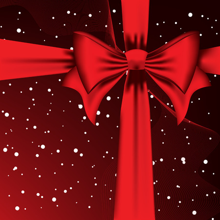 Vector background with the big red bow Vector