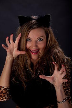 Cat-woman photo