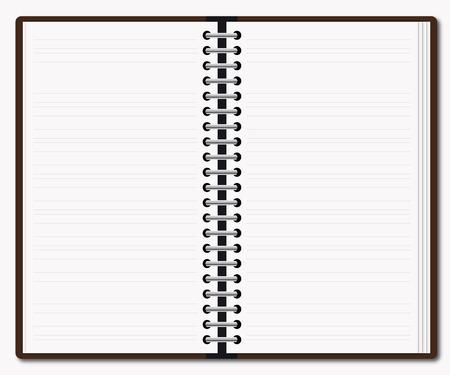 Open diary Stock Vector - 6510571