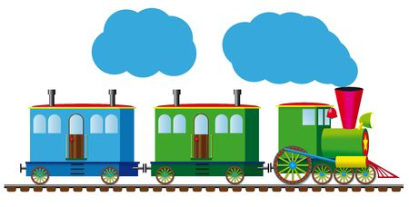 maquina de vapor: Tren divertido Foto de archivo