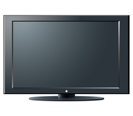 tv monitor: LCD TV set - an illustration for your design project. Illustration