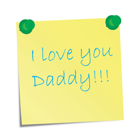 I love you Daddy! Vector