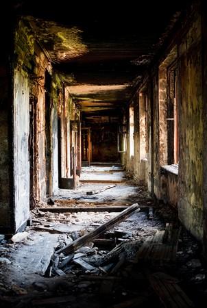 demolished house: Lost city. Abandoned construction Stock Photo