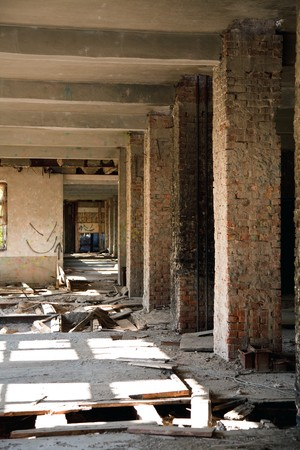 Lost city. The interior of an abandoned construction. Stock Photo - 7029312