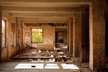 Lost city. The interior of an abandoned construction. Stock Photo - 7029308