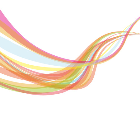 Abstract rainbow wave lines with a space for your text