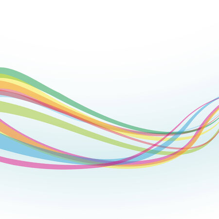 windy energy: Abstract rainbow wave lines with a space for your text
