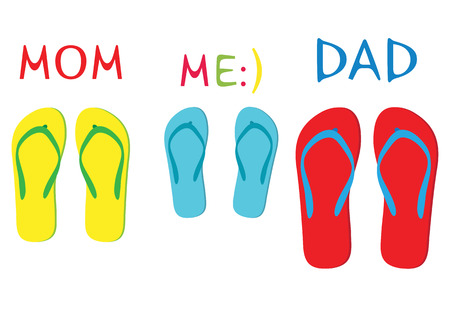 thongs: Family on summer vacation