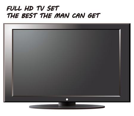 electricals: Full HD TV set - an illustration for your design project.