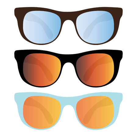collection of sunglasses isolated on white Stock Vector - 7103906