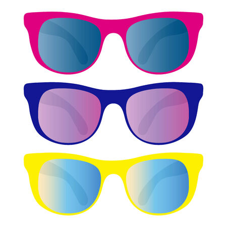 collection of sunglasses isolated on white Stock Vector - 7103907