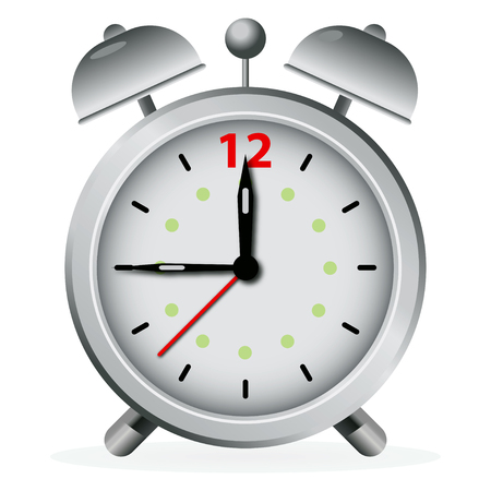 pm: Alarm clock on white background