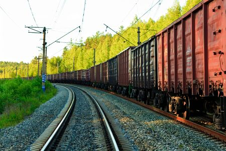 goods train: Freight train