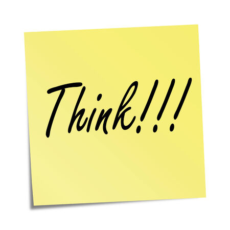Yellow sticky note  with a slogan on it Vector