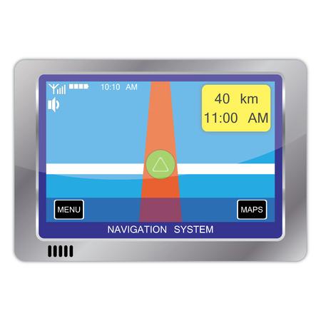 navigation system device Stock Vector - 7419272