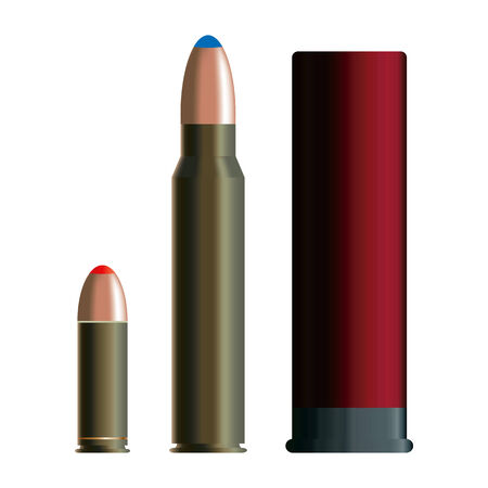 Set of  bullets isolated on white background Vector