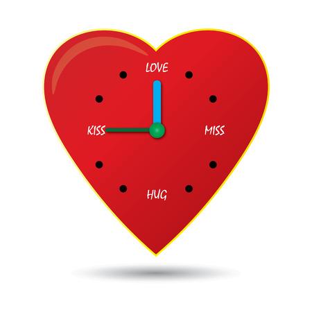 night time: Clock of love Illustration