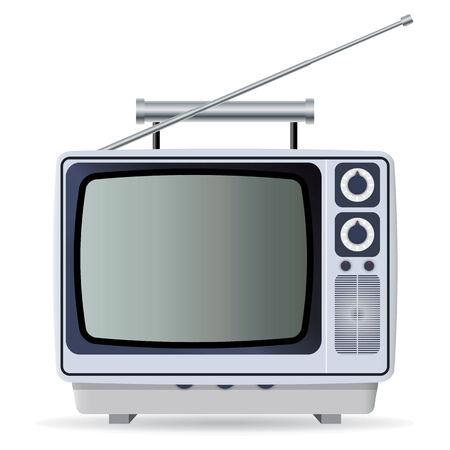 objetos cuadrados: Viejo televisor  Vectores