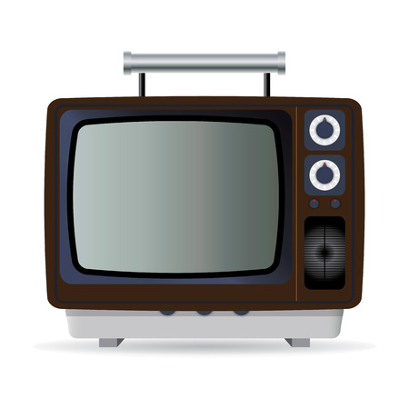 Old TV set Stock Vector - 7605927