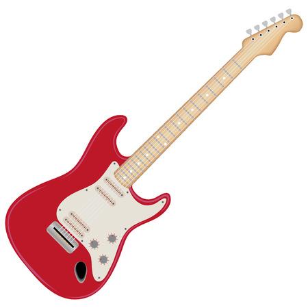 Guitare électrique, isolée sur fond blanc