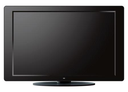 Modern LCD TV set over a white illustration. Stock Vector - 8178665