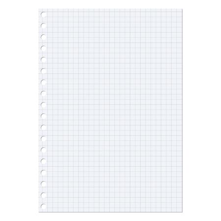 hoja en blanco: Hoja de papel sobre un fondo blanco  Vectores