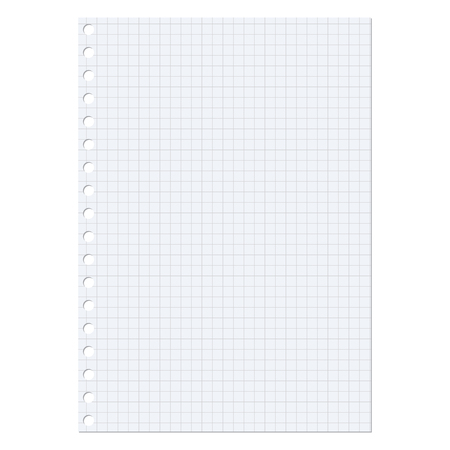 a sheet of paper: Paper sheet over a white background Illustration