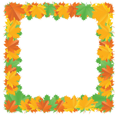 Fall leaf border with a place for text Vector