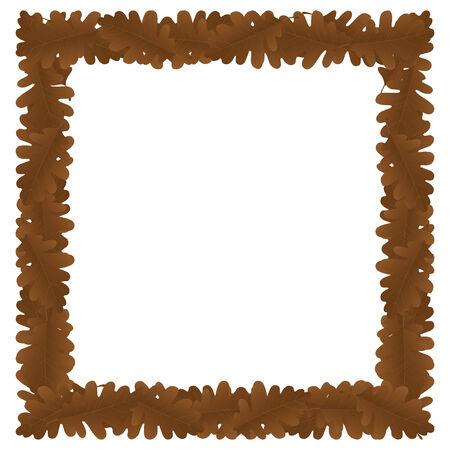 bordering: Borde de hoja de oto�o con un lugar para texto o imagen